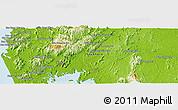Physical Panoramic Map of Phangnga