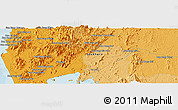 Political Panoramic Map of Phangnga