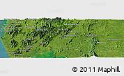 Satellite Panoramic Map of Phangnga