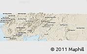 Shaded Relief Panoramic Map of Phangnga