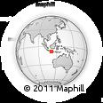 Outline Map of Jetis Kidul, rectangular outline