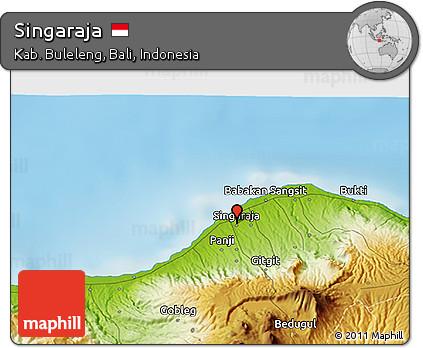 Free physical 3d map of singaraja physical 3d map of singaraja thecheapjerseys Images