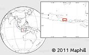 Blank Location Map of Singaraja