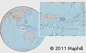 Gray Location Map of Singaraja, hill shading