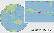 Savanna Style Location Map of Singaraja