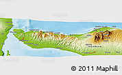 "Physical Panoramic Map of the area around 8° 12' 42"" S, 114° 49' 29"" E"