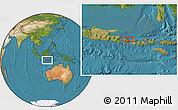 "Satellite Location Map of the area around 8°12'42""S,115°40'30""E"