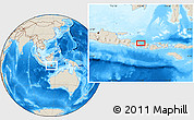 """Shaded Relief Location Map of the area around 8°12'42""""S,115°40'30""""E"""