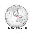 Outline Map of Mount Agung, rectangular outline