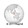 Outline Map of Gili Meno, rectangular outline