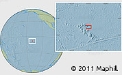 """Savanna Style Location Map of the area around 8°12'42""""S,139°19'29""""W, hill shading"""