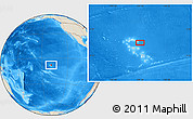 """Shaded Relief Location Map of the area around 8°12'42""""S,139°19'29""""W"""
