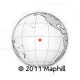 """Outline Map of the Area around 8° 12' 42"""" S, 139° 19' 29"""" W, rectangular outline"""