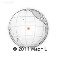 """Outline Map of the Area around 8° 12' 42"""" S, 140° 10' 30"""" W, rectangular outline"""