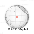 """Outline Map of the Area around 8° 12' 42"""" S, 141° 52' 30"""" W, rectangular outline"""