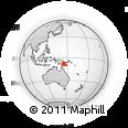 Outline Map of Kerema, rectangular outline