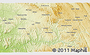 """Physical 3D Map of the area around 8°12'42""""S,14°31'30""""E"""