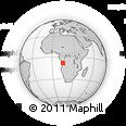 Outline Map of Nambuangongo, rectangular outline