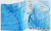 """Shaded Relief 3D Map of the area around 8°12'42""""S,156°28'29""""E"""