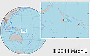 """Gray Location Map of the area around 8°12'42""""S,156°28'29""""E"""
