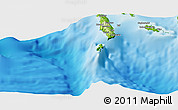 """Physical Panoramic Map of the area around 8°12'42""""S,156°28'29""""E"""