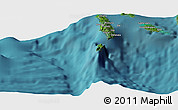 "Satellite Panoramic Map of the area around 8°12'42""S,156°28'29""E"