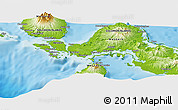 """Physical Panoramic Map of the area around 8°12'42""""S,157°19'29""""E"""
