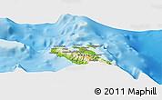 Physical Panoramic Map of Andi