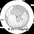 Outline Map of Zovo, rectangular outline