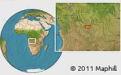 "Satellite Location Map of the area around 8°12'42""S,18°46'29""E"