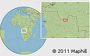 "Savanna Style Location Map of the area around 8°12'42""S,18°46'29""E"