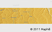 Physical Panoramic Map of Caluango