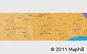Political Panoramic Map of Sacamuando