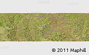 Satellite Panoramic Map of Sacamuando