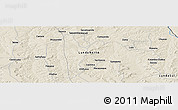 Shaded Relief Panoramic Map of Sacamuando