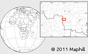"""Blank Location Map of the area around 8°12'42""""S,22°10'29""""E"""