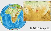 Physical Location Map of Mwene-Butshi