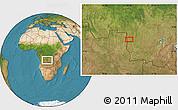 "Satellite Location Map of the area around 8°12'42""S,22°10'29""E"