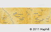 Physical Panoramic Map of Mwene-Butshi