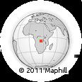 Outline Map of Zaila, rectangular outline
