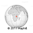 Outline Map of Mpui, rectangular outline