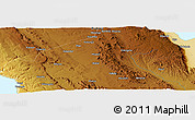 """Physical Panoramic Map of the area around 8°12'42""""S,31°31'29""""E"""