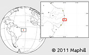 """Blank Location Map of the area around 8°12'42""""S,34°46'29""""W"""