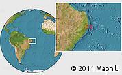 "Satellite Location Map of the area around 8°12'42""S,34°46'29""W"