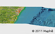 Satellite Panoramic Map of Ipojuca