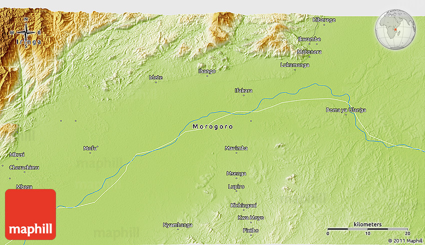 Physical 3D Map of Mavimba
