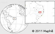 """Blank Location Map of the area around 8°12'42""""S,36°28'30""""W"""