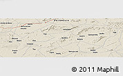 Shaded Relief Panoramic Map of Betânia