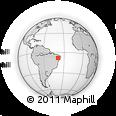 Outline Map of Salgueiro, rectangular outline