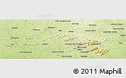 Physical Panoramic Map of Salgueiro